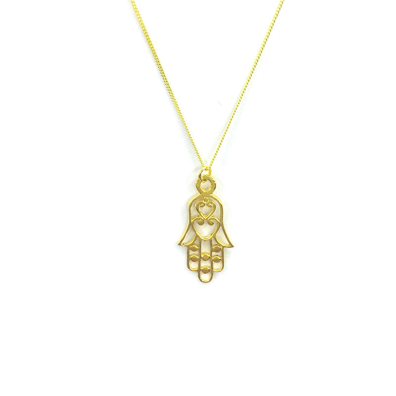 white chopard good gold pendant diamonds hamsa diamond luck happy necklace